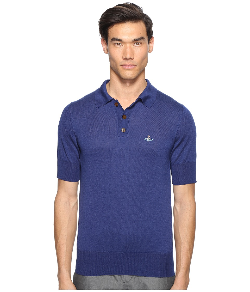 Vivienne Westwood - Classic Knit Polo (Blue) Men's Clothing