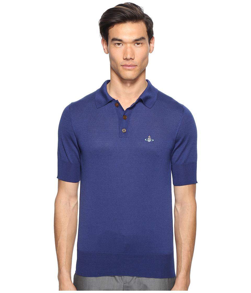 Vivienne Westwood - Classic Knit Polo (Blue) Men's Clothing