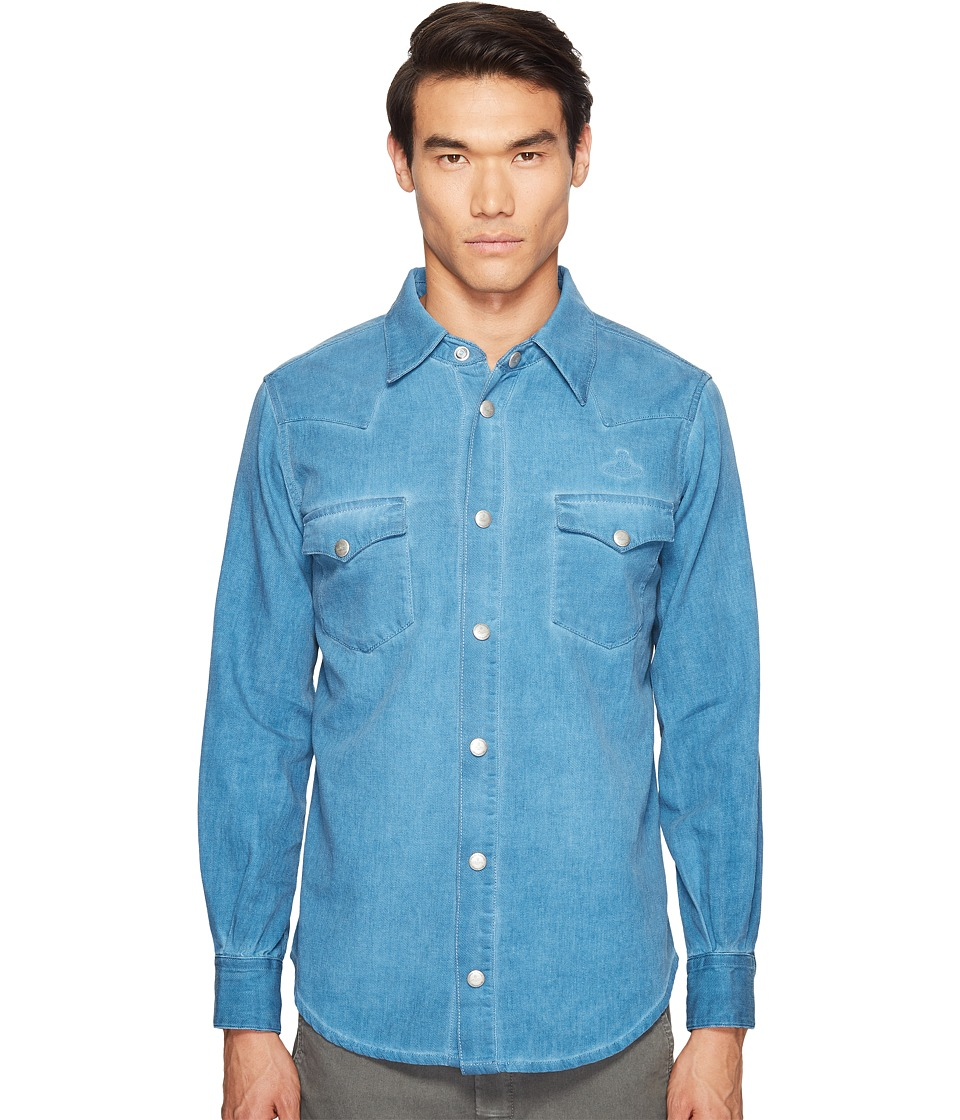 Vivienne Westwood - Anglomania Lee Classic Lars Shirt (Blue Denim) Men's Clothing