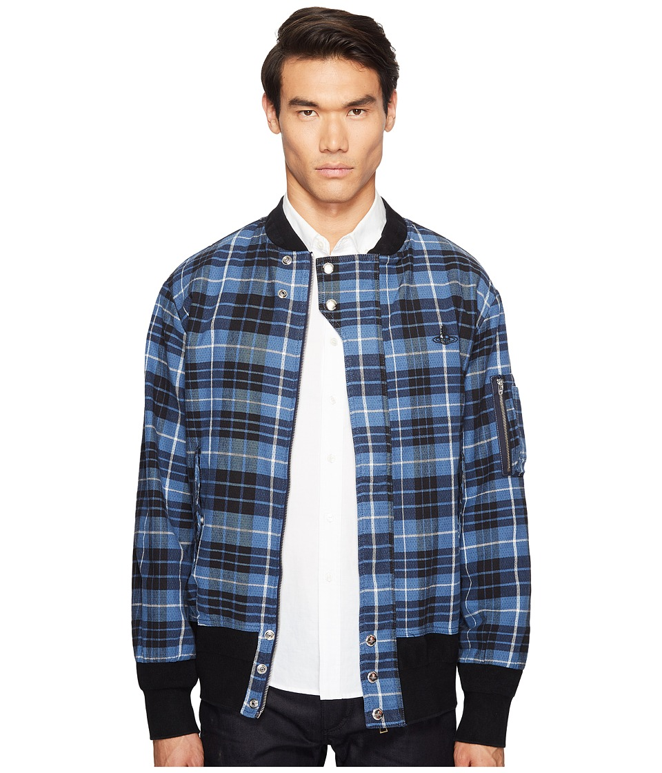Vivienne Westwood - Anglomania Lee Berry Bomber (Grunge Blue) Men's Coat