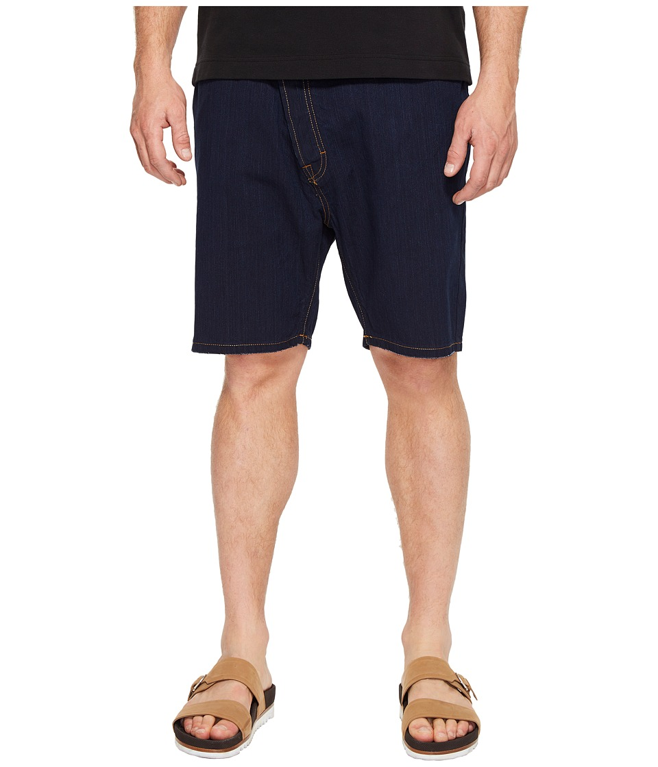 Vivienne Westwood - Anglomania Lee Shady Asymmetric Shorts (Blue Denim) Men's Shorts
