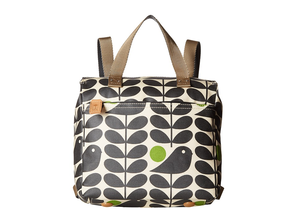 Orla Kiely - Early Bird Print Small Backpack (Granite) Backpack Bags