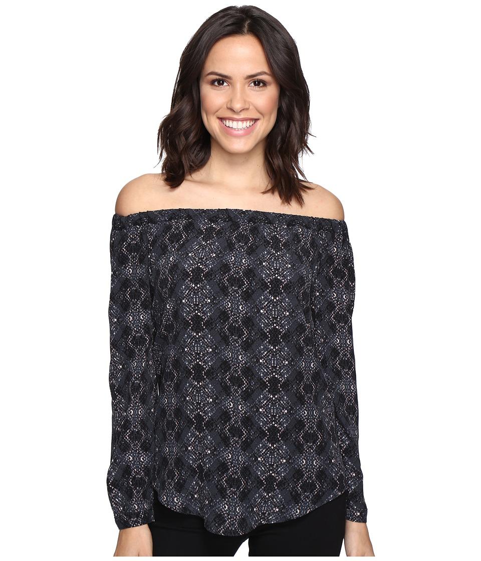 Michael Stars - Python Print Off the Shoulder Blouse (Oxide) Women's Blouse