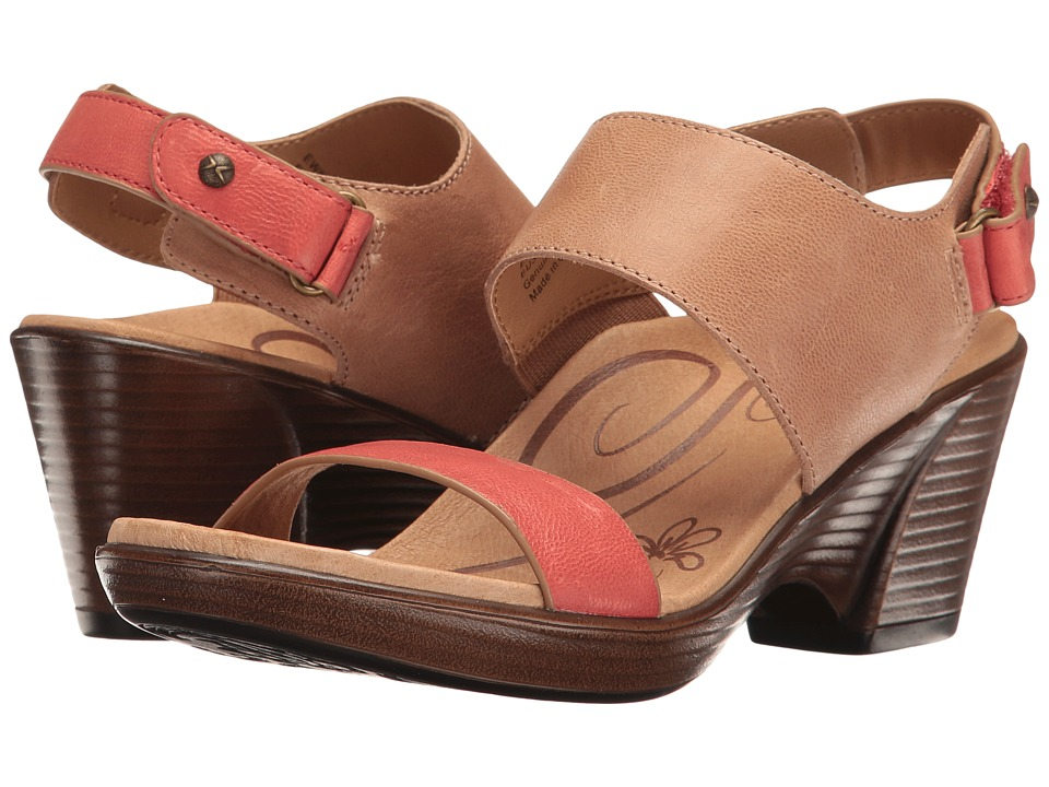 Aetrex - Peyton Wedge Sandal (Coral) Women's Wedge Shoes
