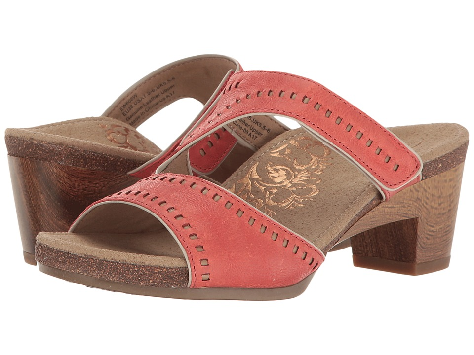 Aetrex - Lillian (Coral) Women's Wedge Shoes