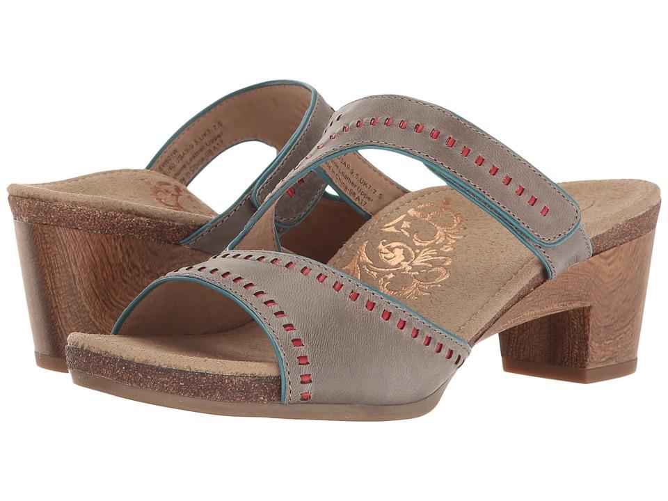 Aetrex - Lillian (Steel) Women's Wedge Shoes