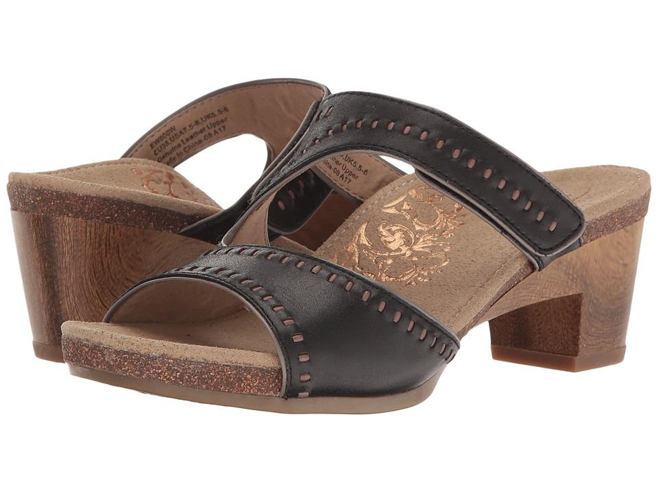 Aetrex - Lillian (Black) Women's Wedge Shoes