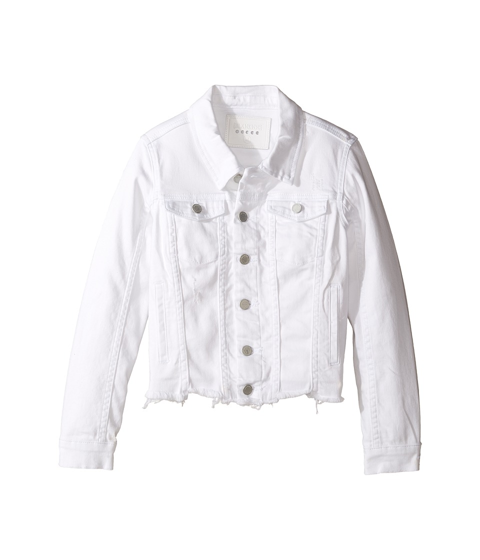 Blank NYC Kids Cut Off Detailed Jacket in Whisper White (Big Kids) (White) Girl