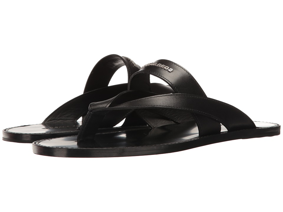 DSQUARED2 - Joseph Sandal (Black) Men's Dress Sandals