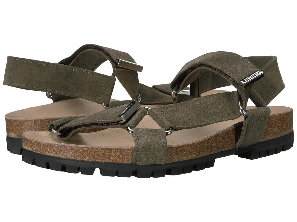 DSQUARED2 - Berk Suede Sandal (Military) Men's Sandals