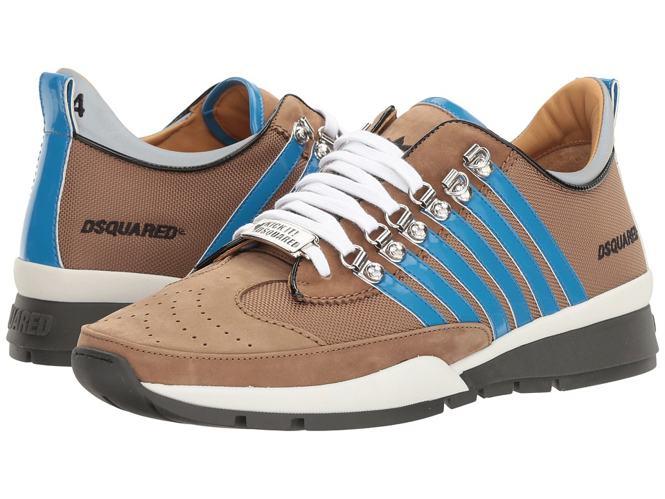DSQUARED2 - 251 Sneaker (Beige/Blue) Men's Lace up casual Shoes