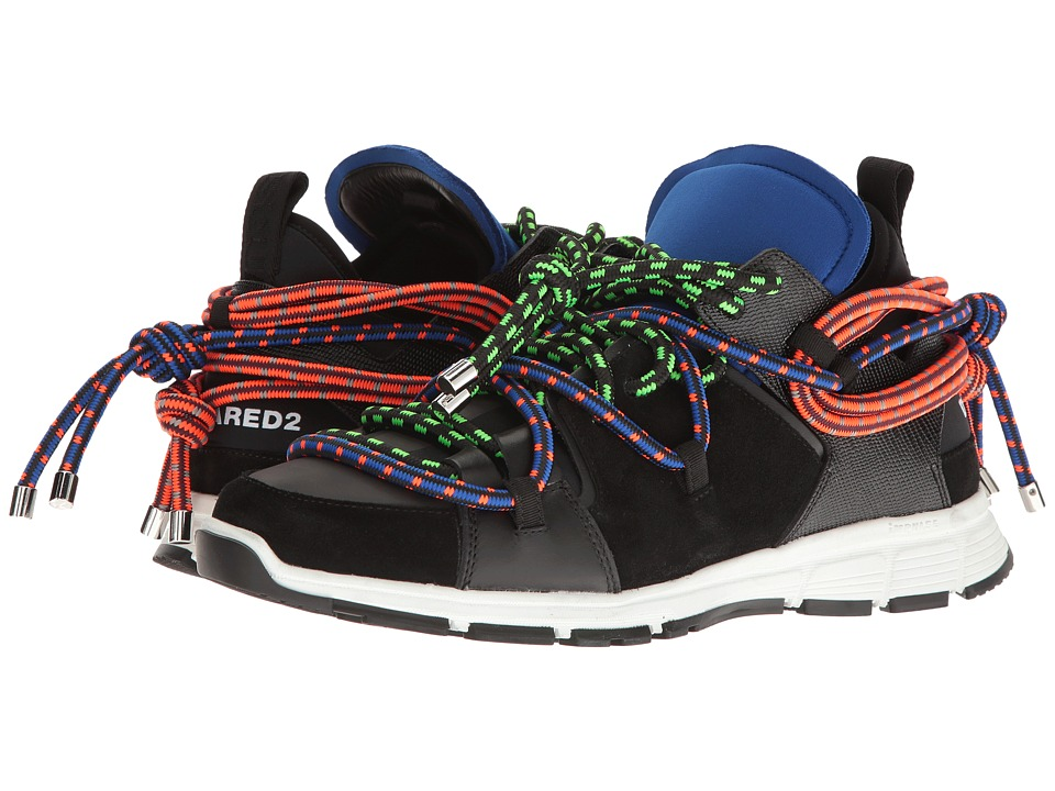 DSQUARED2 Bungy Jump Sneaker (Black/Green) Men