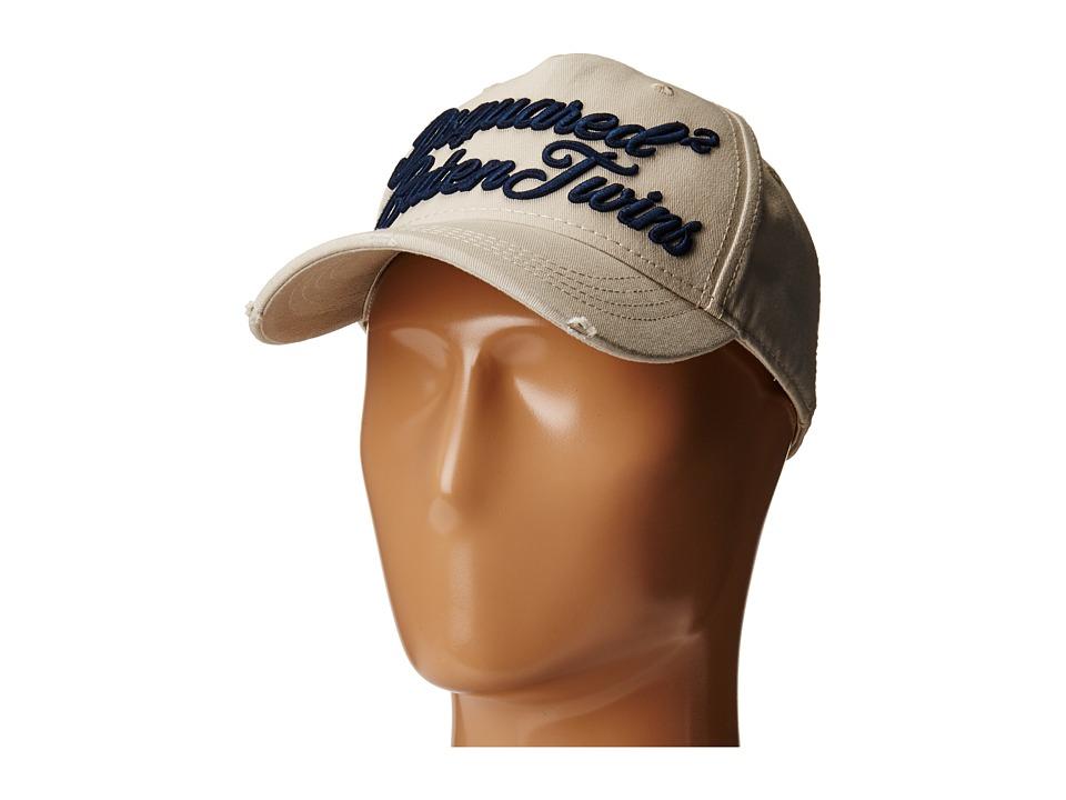 DSQUARED2 - Script Baseball Cap (Beige/Navy) Caps