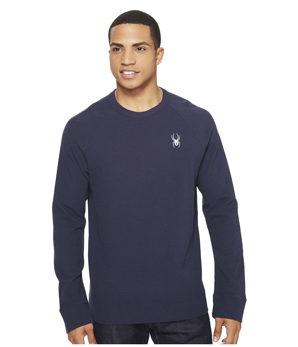 Spyder - Vintage Jersey Waffle Long Sleeve Crew Shirt (Frontier) Men's Sweatshirt