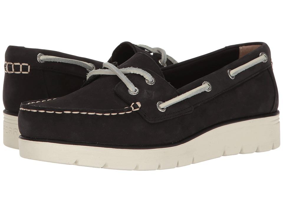 Sperry - Azur Cora Nubuck (Black) Women's Moccasin Shoes