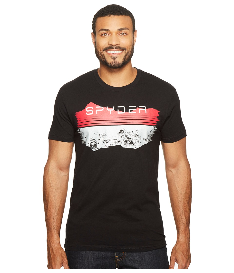 Spyder - Limitless Tee (Black Waterbased Ink/Reflective Hits) Men's T Shirt