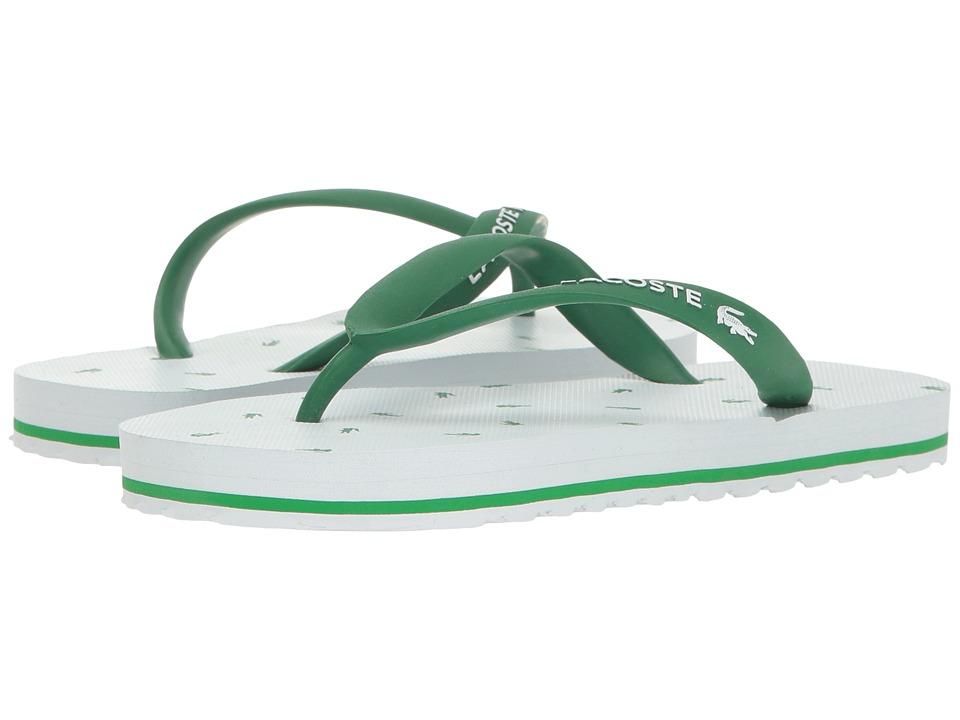 Lacoste Kids Nosara 116 1 (Little Kid) (White/Green) Girls Shoes