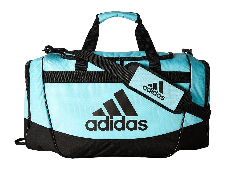 adidas - Defender II Medium Duffel (Clear Aqua/Black) Duffel Bags