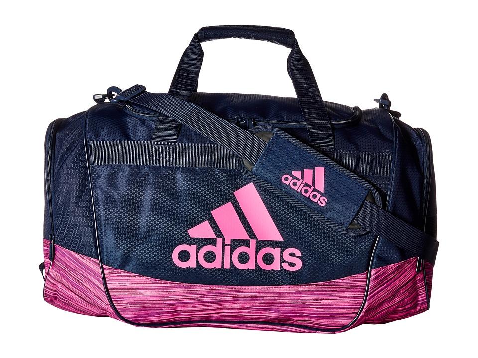 adidas - Defender II Medium Duffel (Collegiate Navy/Looper Shock Pink) Duffel Bags