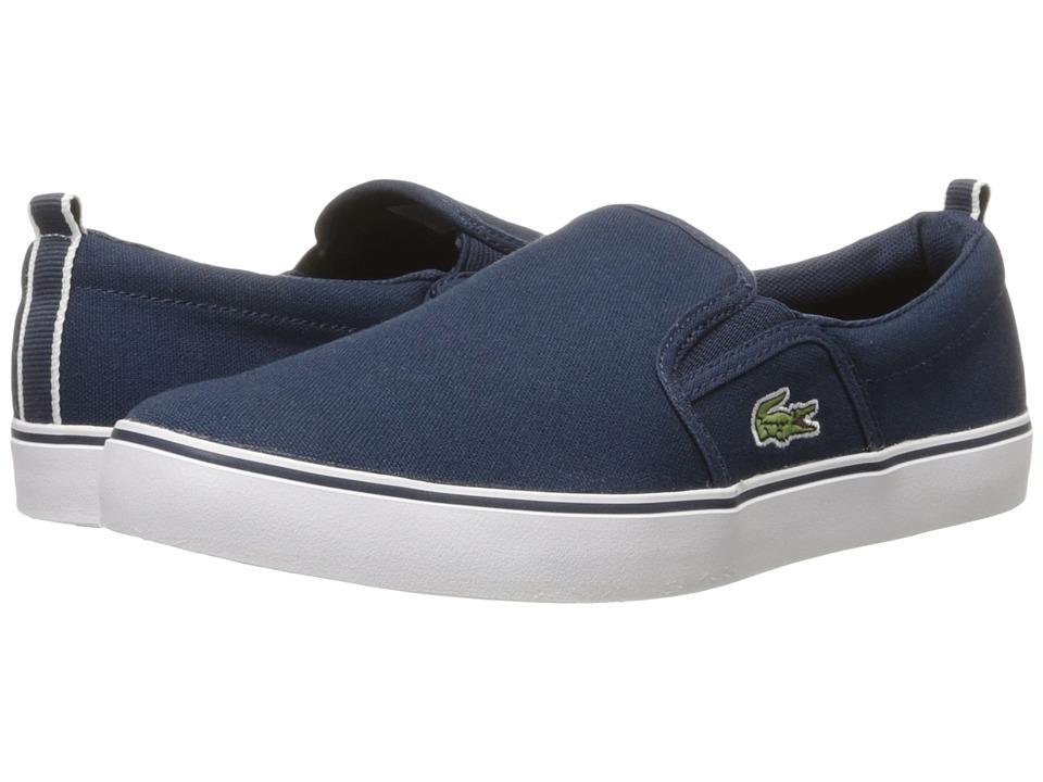 Lacoste Kids - Gazon 116 1 (Little Kid/Big Kid) (Navy) Kids Shoes