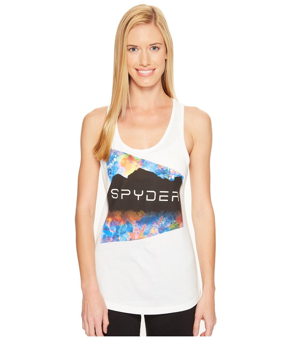 Spyder - Limitless Tank Top (White Clear High Gloss Wordmark) Women's Sleeveless