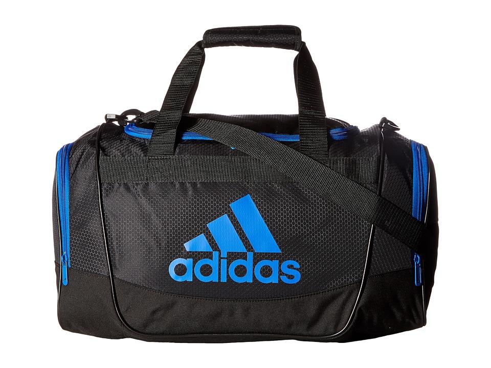 adidas - Defender II Small Duffel (Black/Blue) Duffel Bags