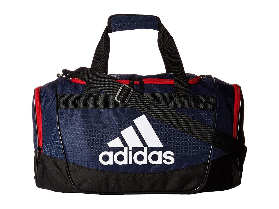 adidas - Defender II Small Duffel (Collegiate Navy/Black/Scarlet/White) Duffel Bags