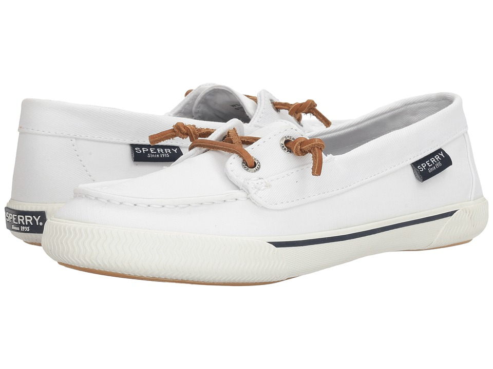 Sperry - Quest Rhythm Canvas (White) Women's Slip on Shoes