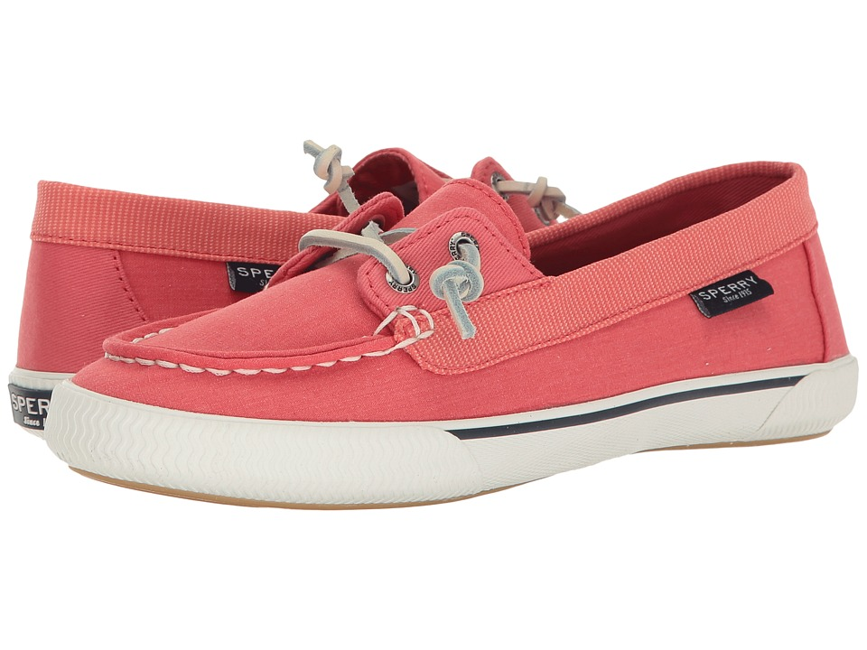 Sperry - Quest Rhythm Canvas (Coral) Women's Slip on Shoes