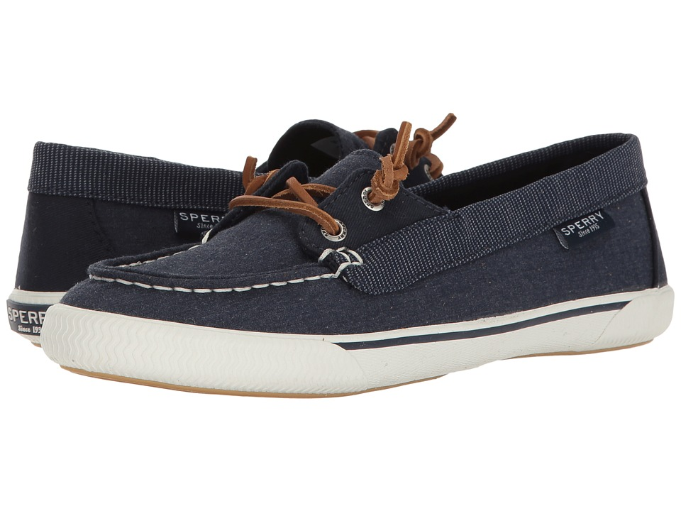 Sperry - Quest Rhythm Canvas (Navy) Women's Slip on Shoes