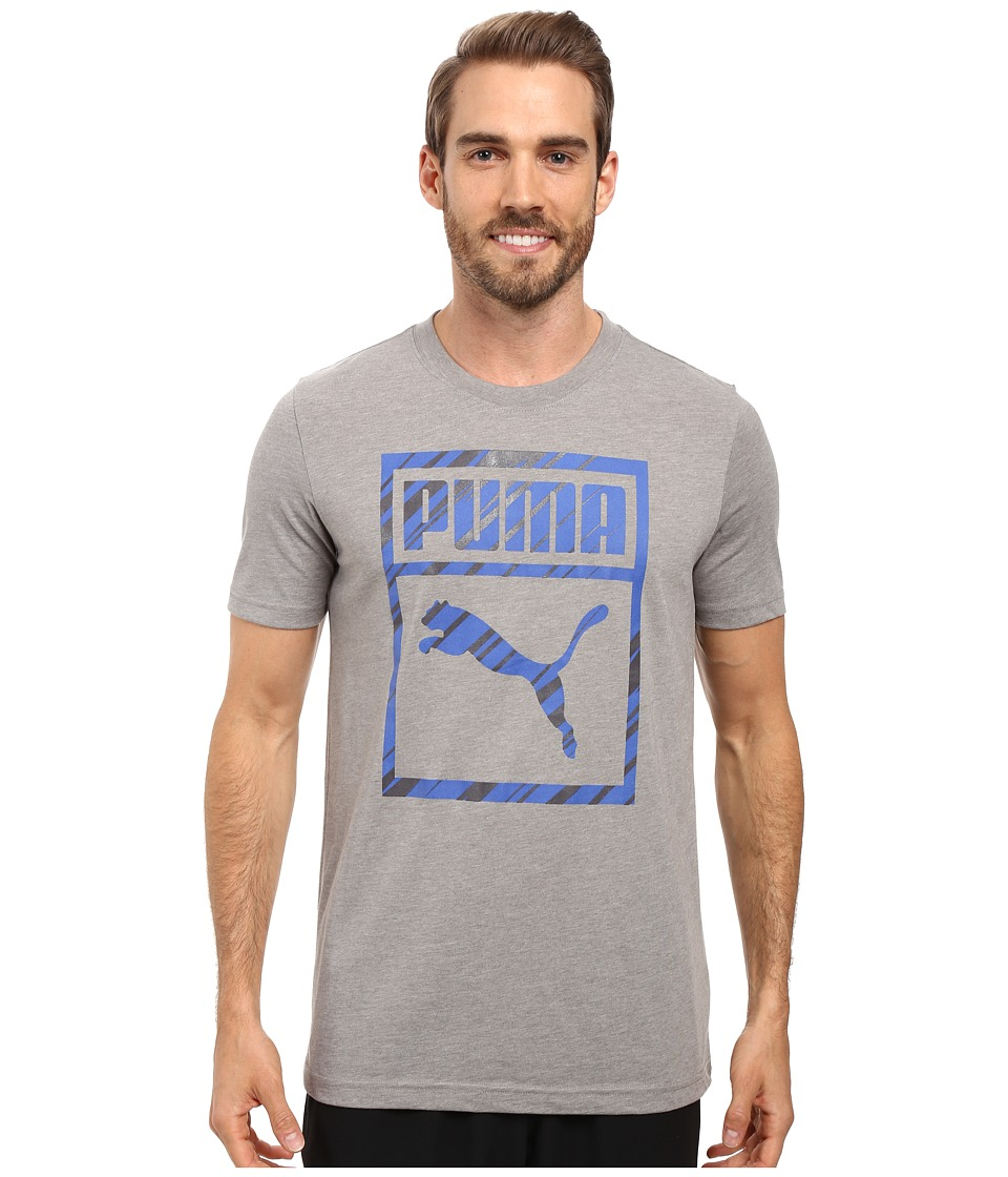 PUMA - Boxed In Perf Tee (Medium Gray Heather) Men's T Shirt