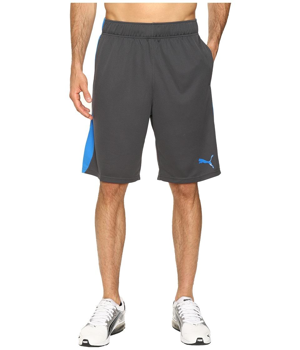 PUMA - Formstripe Mesh Shorts (Asphalt/Electric Blue Lemonade) Men's Shorts
