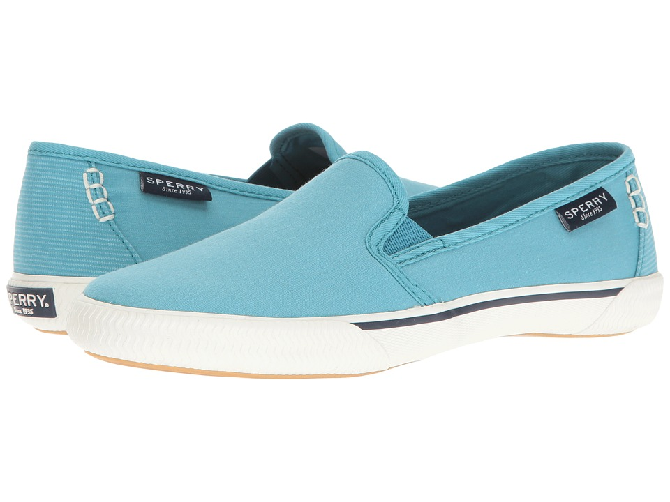 Sperry - Quest Cay Canvas (Teal) Women's Slip on Shoes
