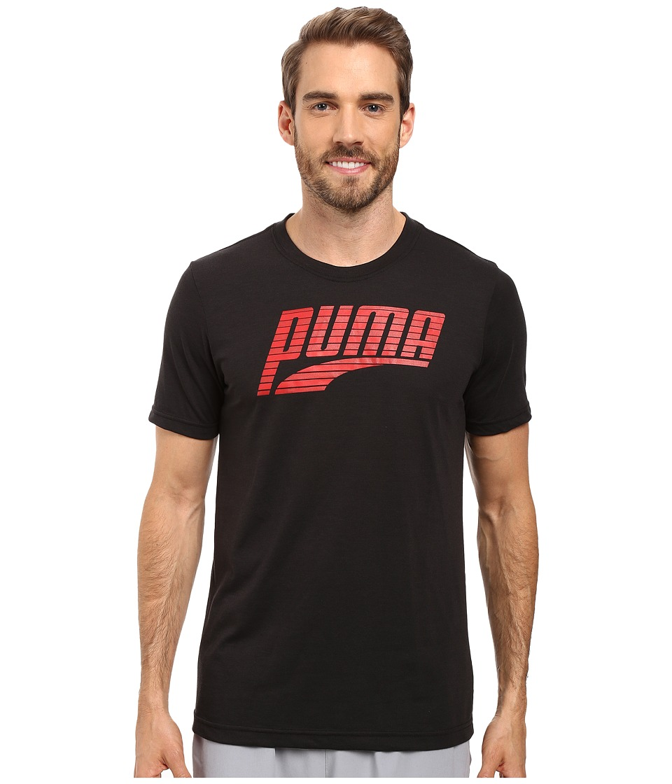 PUMA - Formstripe Perf Tee (Black/Puma Red) Men's T Shirt