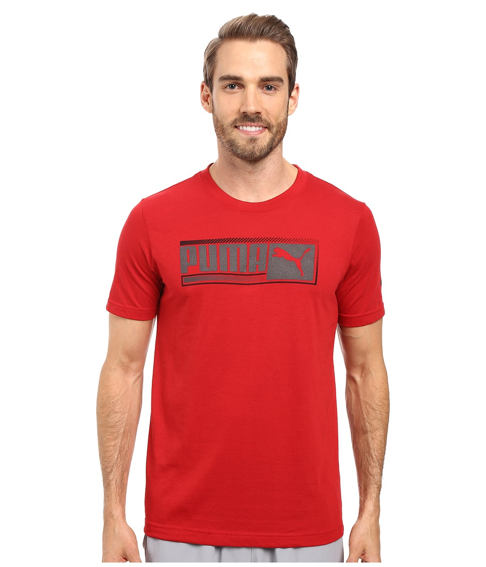 PUMA - Sueded Perf Tee (Chili Pepper/Asphalt) Men's T Shirt
