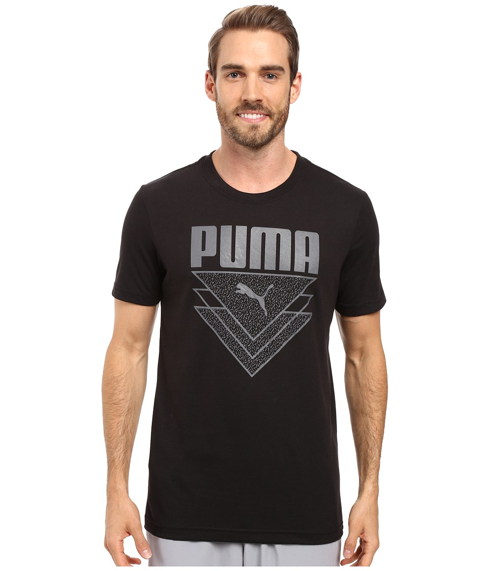 PUMA - V Cat Tee (Puma Black/Steel Gray) Men's T Shirt