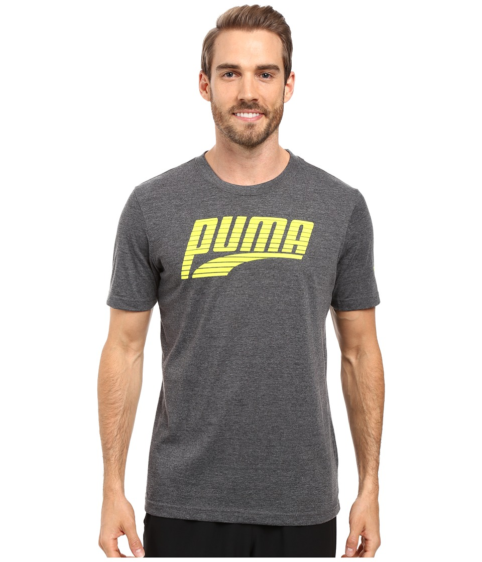 PUMA Formstripe Perf Tee (Dark Gray Heather/Sulphur Spring) Men