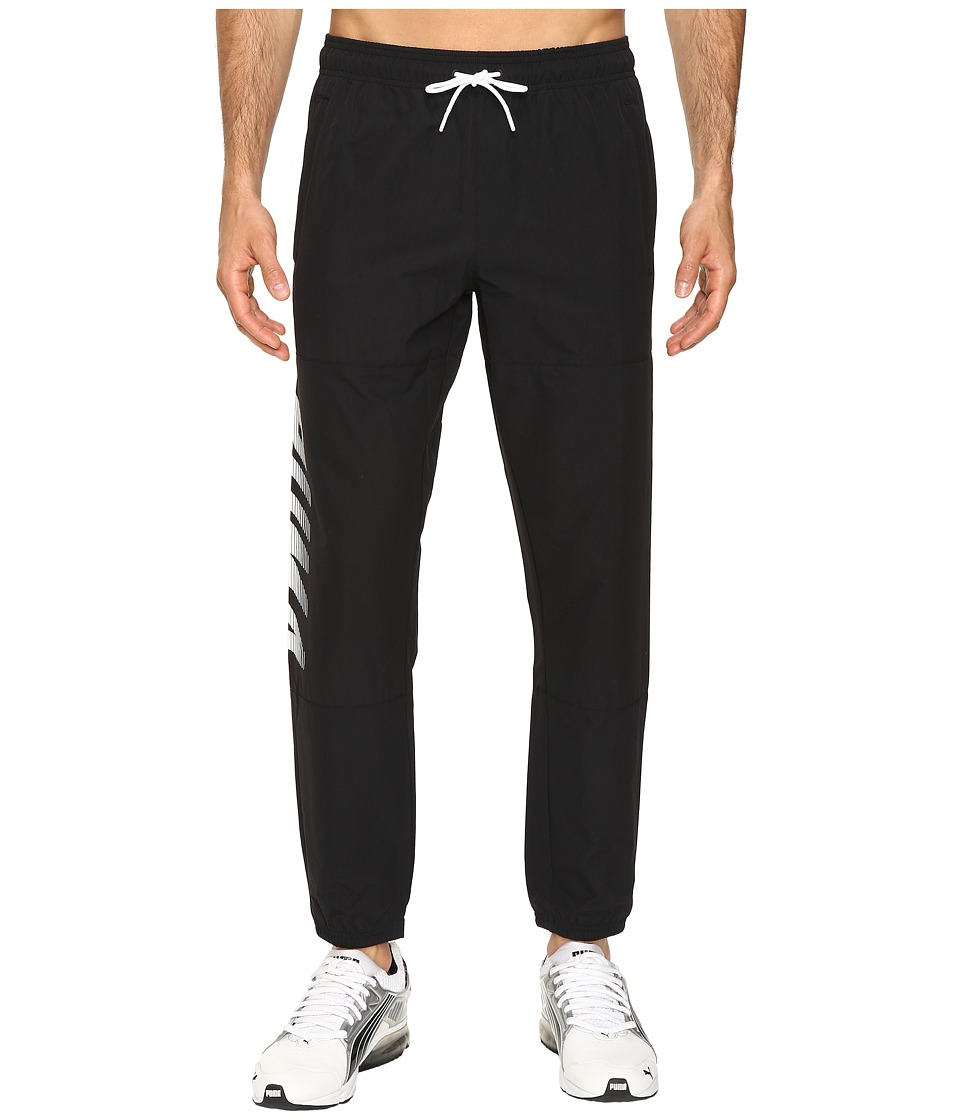 PUMA - Speed Font Woven Pants (PUMA Black) Men's Workout