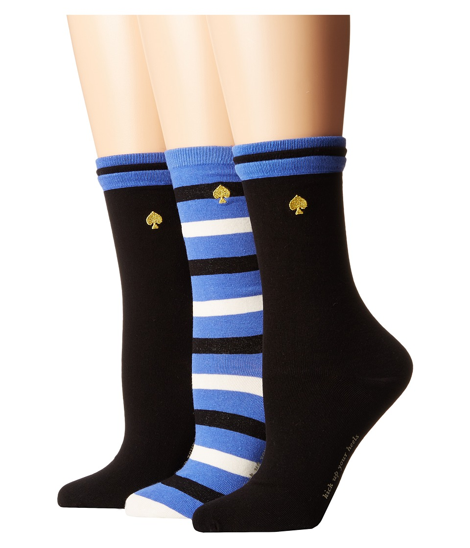 Kate Spade New York - Basic Stripe 3-Pack Crew (Multi) Women's Crew Cut Socks Shoes