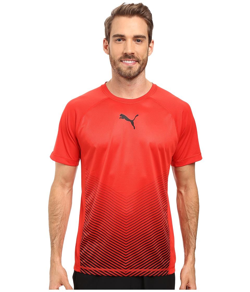PUMA - Vent Short Sleeve Tee (Puma Red/Black) Men's T Shirt