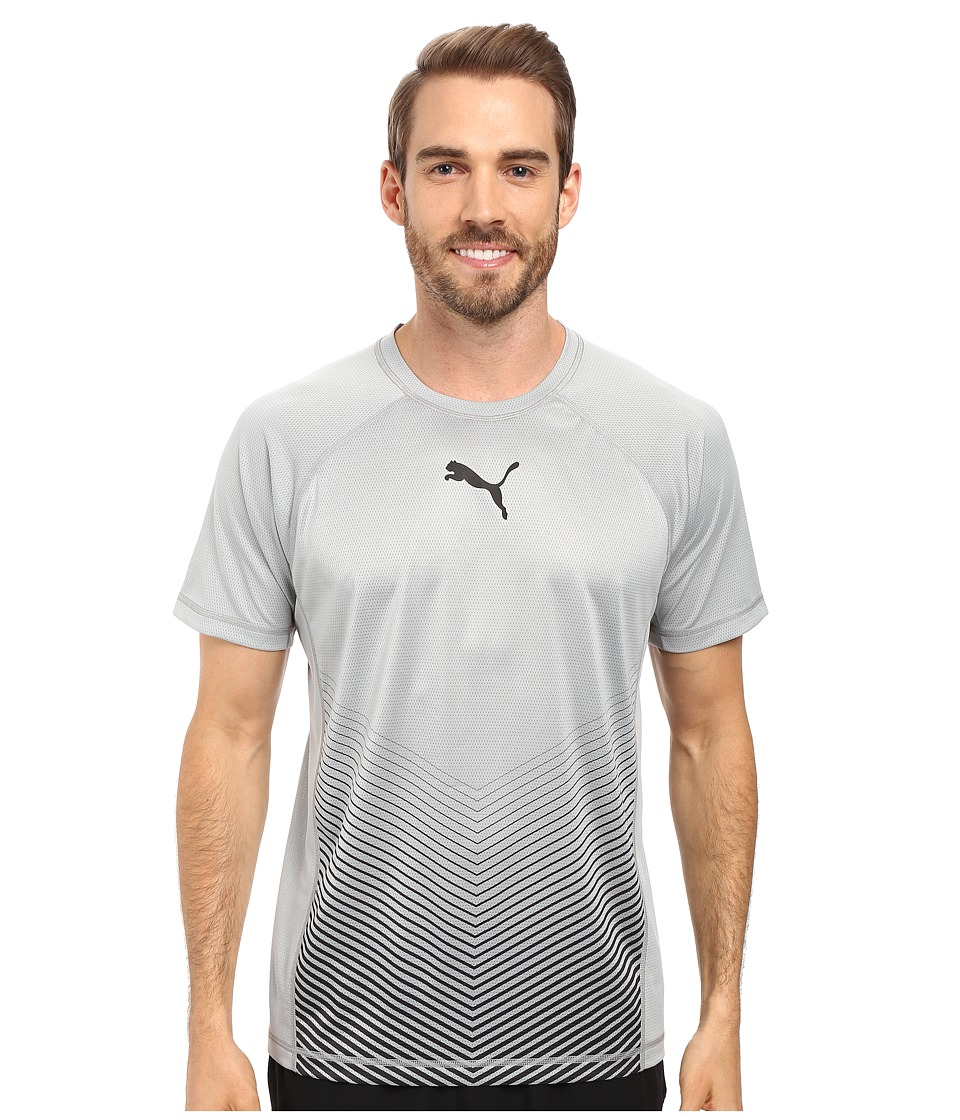 PUMA - Vent Short Sleeve Tee (Quarry/Black) Men's T Shirt