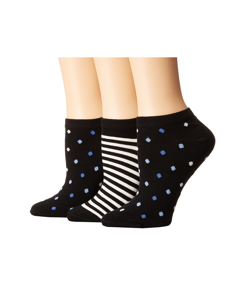 Kate Spade New York - Multi Dot/Stripe 3-Pack No Show (Multi) Women's Crew Cut Socks Shoes