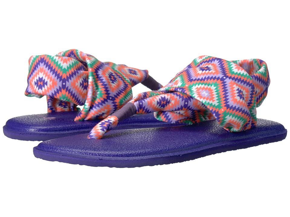 Sanuk Kids Yoga Sling Burst Prints (Little Kid/Big Kid) (The Ranch Liberty) Girls Shoes