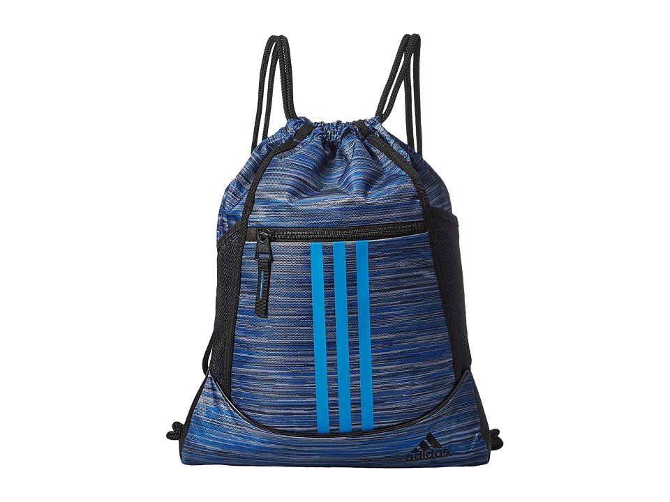 adidas - Alliance II Sackpack (Looper Core Blue/Core Blue/Black) Bags