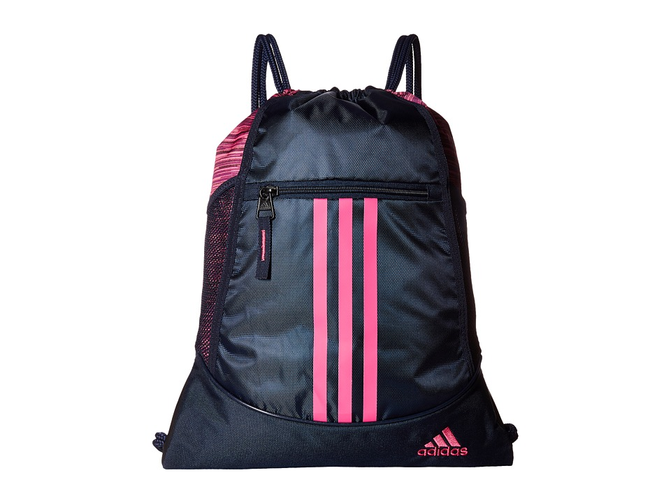 adidas - Alliance II Sackpack (Collegiate Navy/Looper Shock Pink) Bags