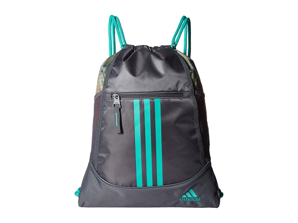 adidas - Alliance II Sackpack (Onix/Siesta/Shock Mint) Bags