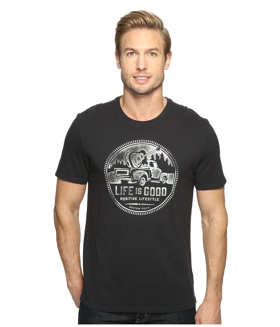 Life is Good - Positive Lifestyle Truck Smooth Tee (Night Black) Men's T Shirt