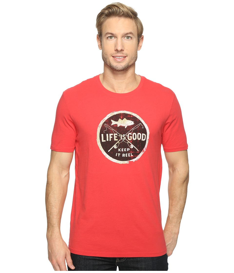 Life is Good - Keep It Reel Smooth Tee (Americana Red) Men's T Shirt