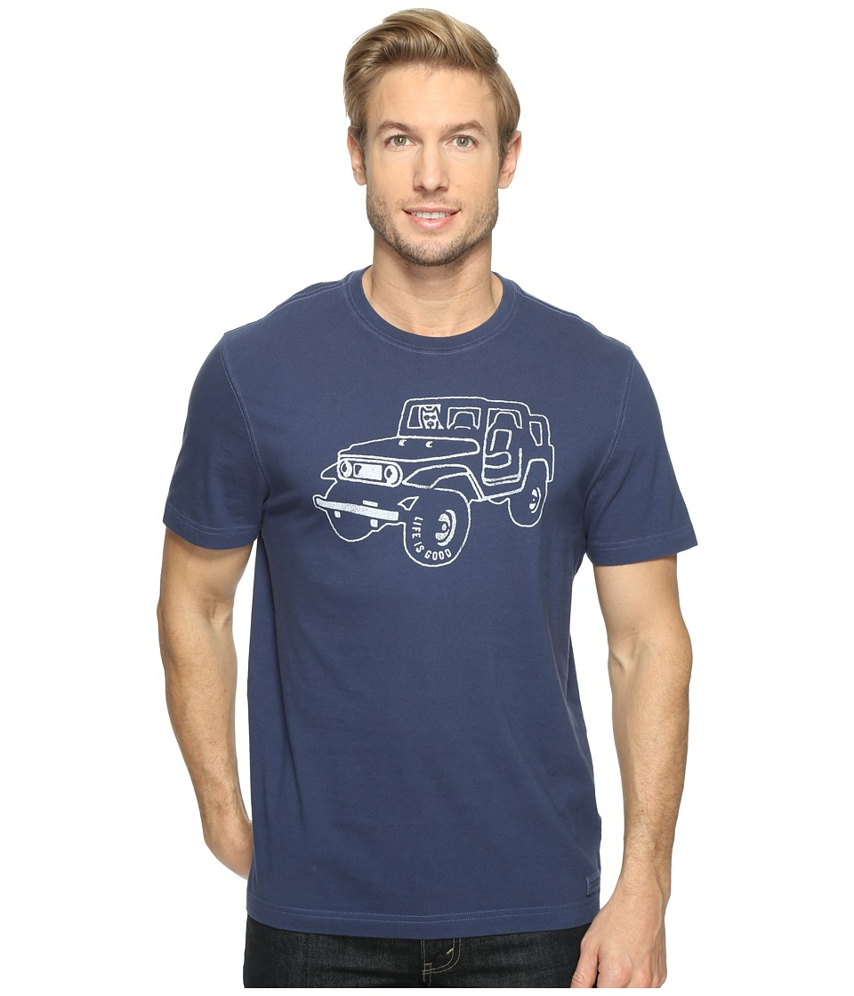Life is Good - Off Road 4x4 Crusher Tee (Darkest Blue) Men's T Shirt