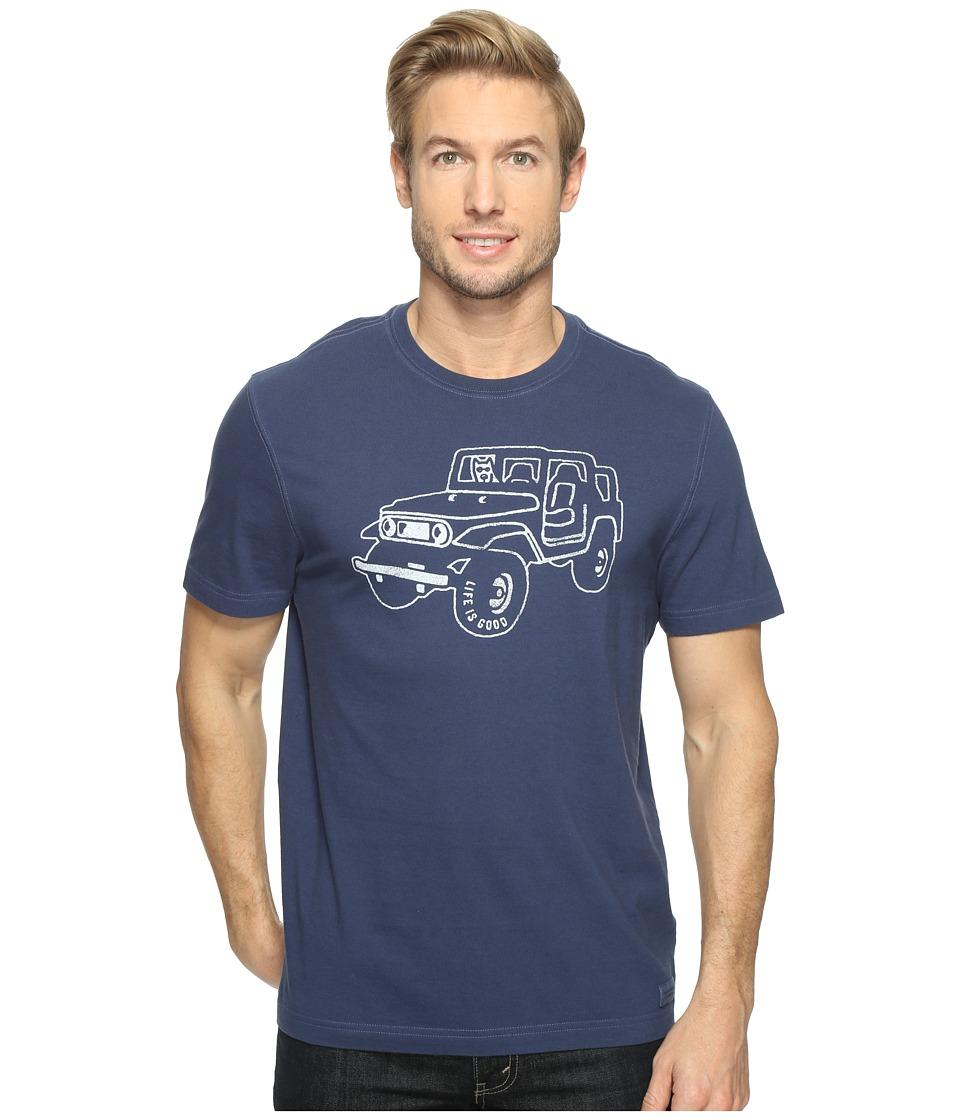 Life is Good - Off Road 4x4 Crusher Tee (Darkest Blue) Men's T Shirt